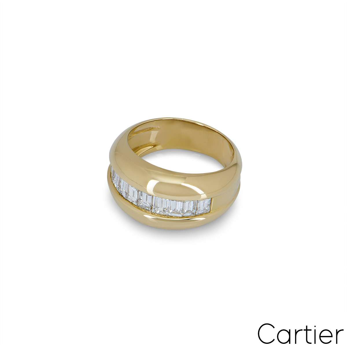 Cartier Yellow Gold Bombe Diamond Ring